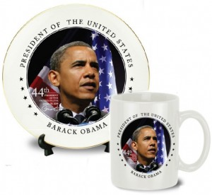 Obama Collector Mug and Plate