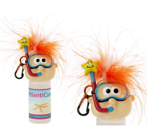 snorkel character hand sanitizer