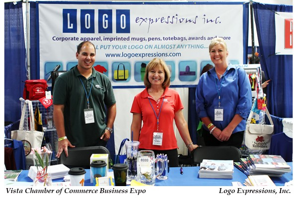 LOGO Expressions 8th Vista Chamber of Commerce Expo Booth