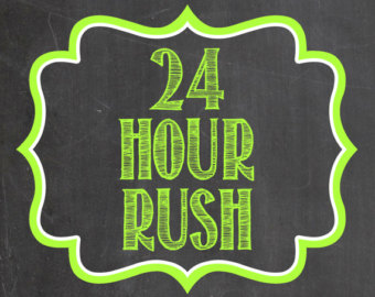 24 hour rush services provided by Logo Expressions